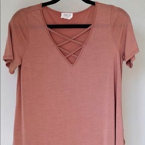 Coral Shirt from Sienna Sky